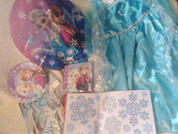 Festa Em Casa Frozen! Kit completo: vestido, acessórios+ Decoração