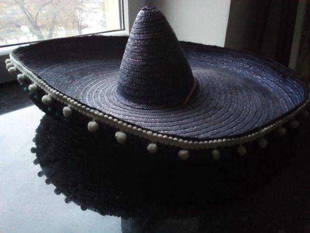 Sombrero szeroki kapelusz słomkowy kostium karnawał bal przebierańców