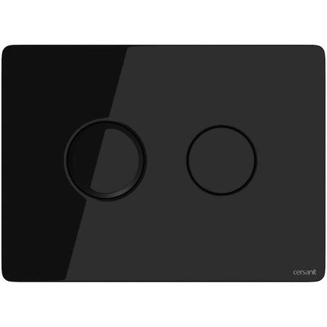 CERSANIT - przycik do wc pneumatyczny czarne szkło  S97-053