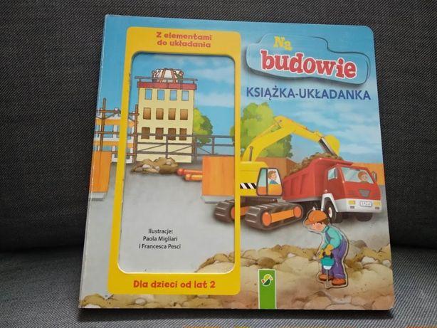Na budowie - książka - układanka