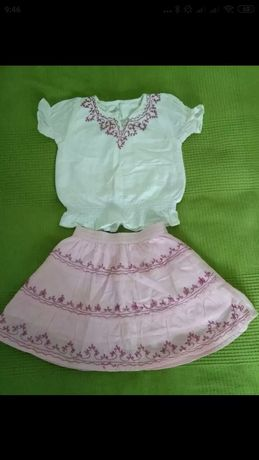 Piękny komplecik dla dziewczynki 100% bawełna 6-9 miesięcy.