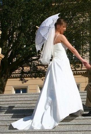 "Suknia ślubna ecru ""one white 182"" rozmiar s na wzrost 165cm"