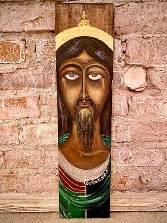 obraz - ikona pisana na drewnie