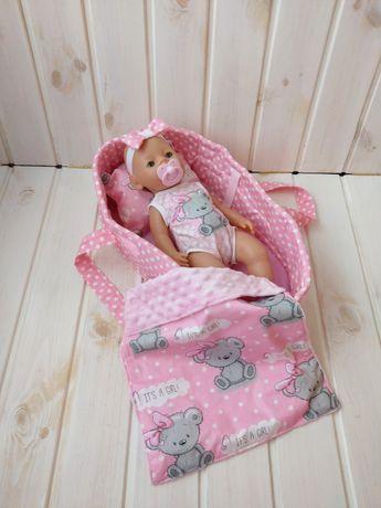 На подарок! Мягкая люлька переноска с постелькой для пупса Baby Born