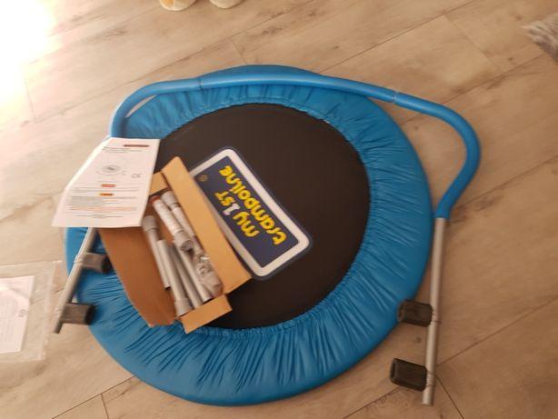 Trampolina dla dzieci z uchwytem 91 cm nowa