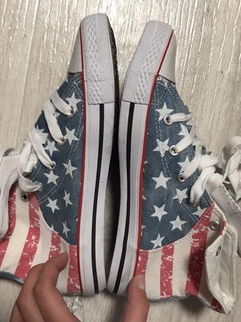 Кеды с амереканским флагом