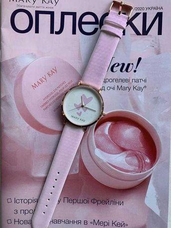 Часы -хамелеон переход с белого в розовий мери кей Mary kay