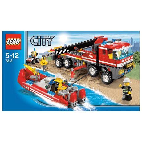 LEGO City 7213 Пожарная машина-кран с пожарной лодкой