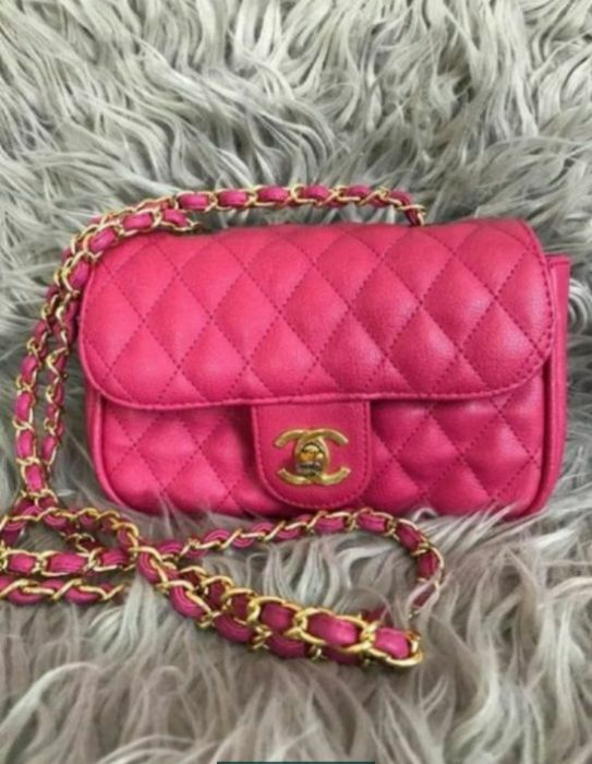 Mała torebka Chanel różowa Lubartów - image 1