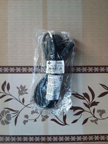 Сетевой кабель шнур питания для компьютера (ПК), монитора ATCOM 1,2 м