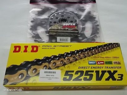 Kit Transmissao corrente DID VX2 X-Ring Honda CBR 600 F de 2011 a 2014