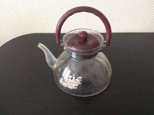 Чайник скляний (стеклянный чайник) прозорий