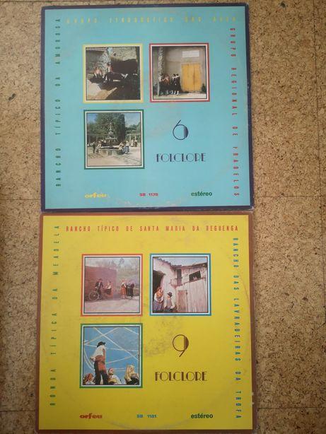 2 discos de vinil da coleção de Folclore da editora Orfeu.
