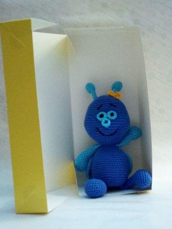 Игрушка муха, вязаная мягкая муха, подарок ребенку 3+