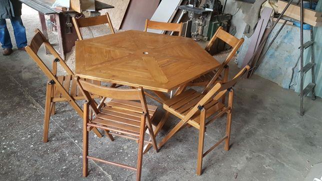 Zestaw stół + 6 krzeseł
