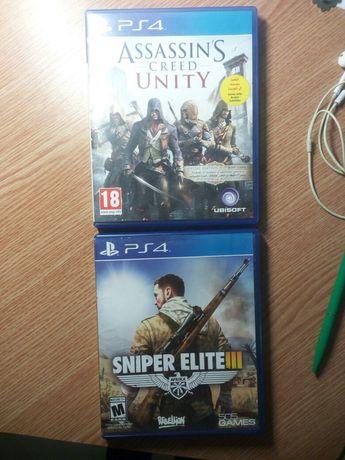 Игры Sony Playstation 4, Assasian's Creed, Sniper Elite, Call of Duty