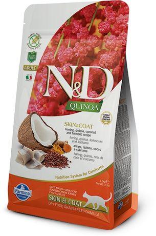 ND Cat Quinoa Skin Coat Herring Kokos 5kg -6988