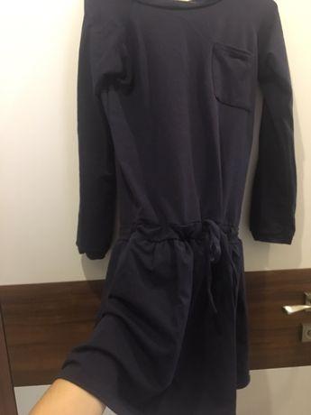 Sukienka ciązowa, bawelna, granatowa M