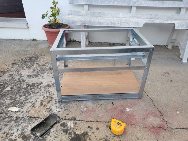 Rig frame, exemplo para 6 gpu
