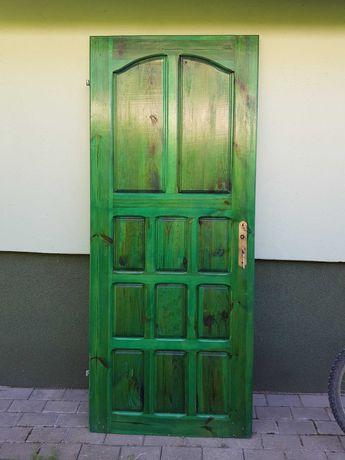 Drzwi wewnętrzne drewniane 80. Lewe