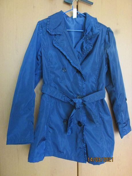 Плащ \ вітровка темно-синього кольору для дівчинки на ріст 128