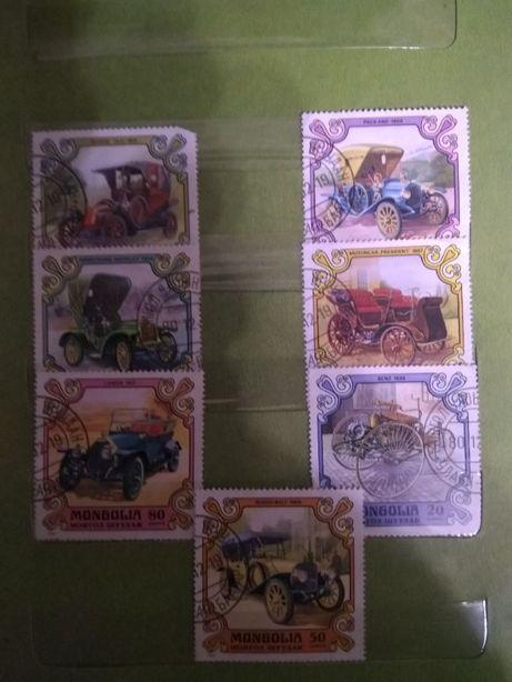 Продам почтовые марки - автомобили