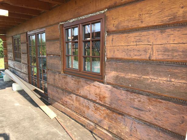 Projekt- renowacja starego domu z bali. Zapraszamy do współpracy.