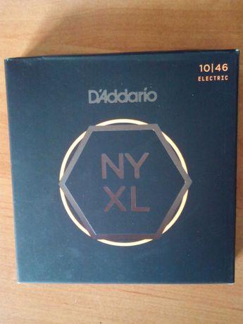 Struny do git. elektrycznej D'Addario 10/46 NYXL-3 komplety w 1 paczce