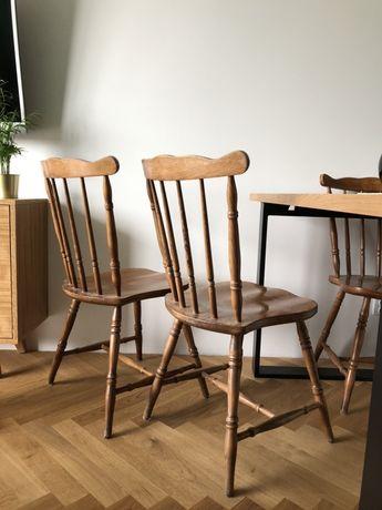 Zestaw krzeseł 4 krzesła patyczaki PRL zestaw krzeseł