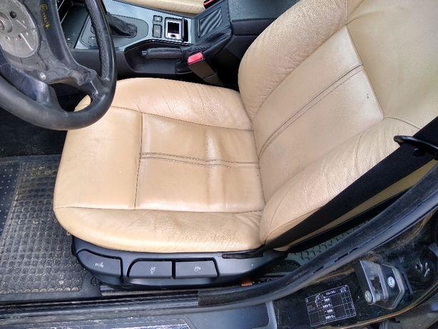 BMW e39 Kombi Fotele,brązowe,grzane,wnetrze,kanapa,boczki