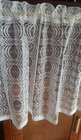 Siatka zazdrostka biała-krem 142x50 ,lambrekin ażur