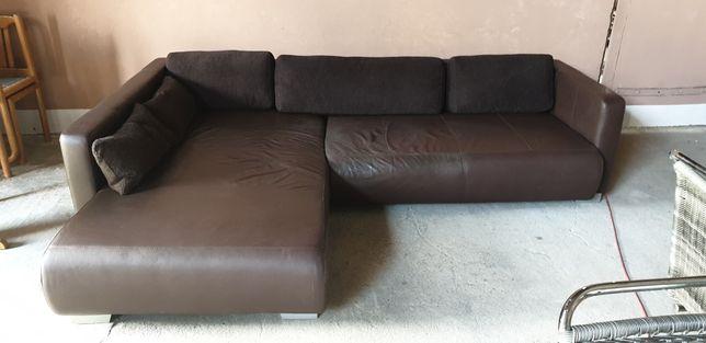 Narożnik Skórzany Sofa 204x280