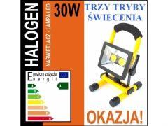 Halogen led 30W=150W akumulatorowy przenośny