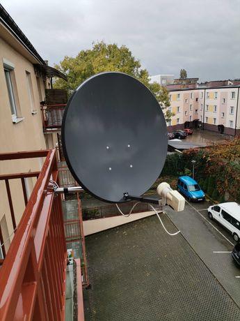Antena z konwerterem i zaczepem