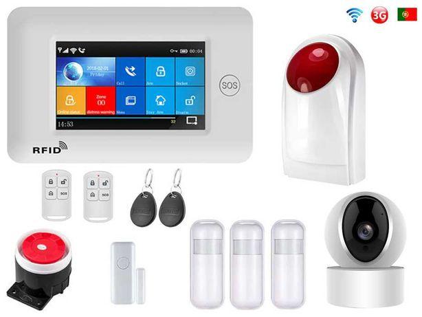 Alarme Loja sem Fios + Camera+Sirene Wifi/GSM/3G Android/iOS PT (NOVO)