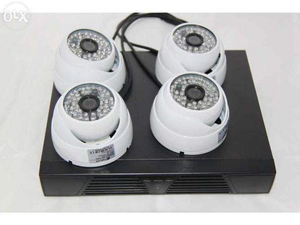 KIT sistema video vigilancia 1 dvr topo de gama + 4 cameras domes 1200