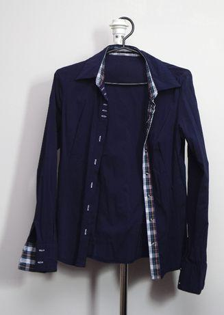 Granatowa koszula, rozmiar S