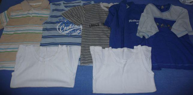 Ubrania chłopięce - zestaw ,szorty, t-shirt, polo, koszulki roz. 122