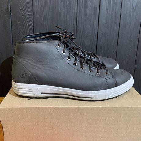 Кожаные ботинки Skechers 48.5 размер ecco clarks tommy lacoste nike