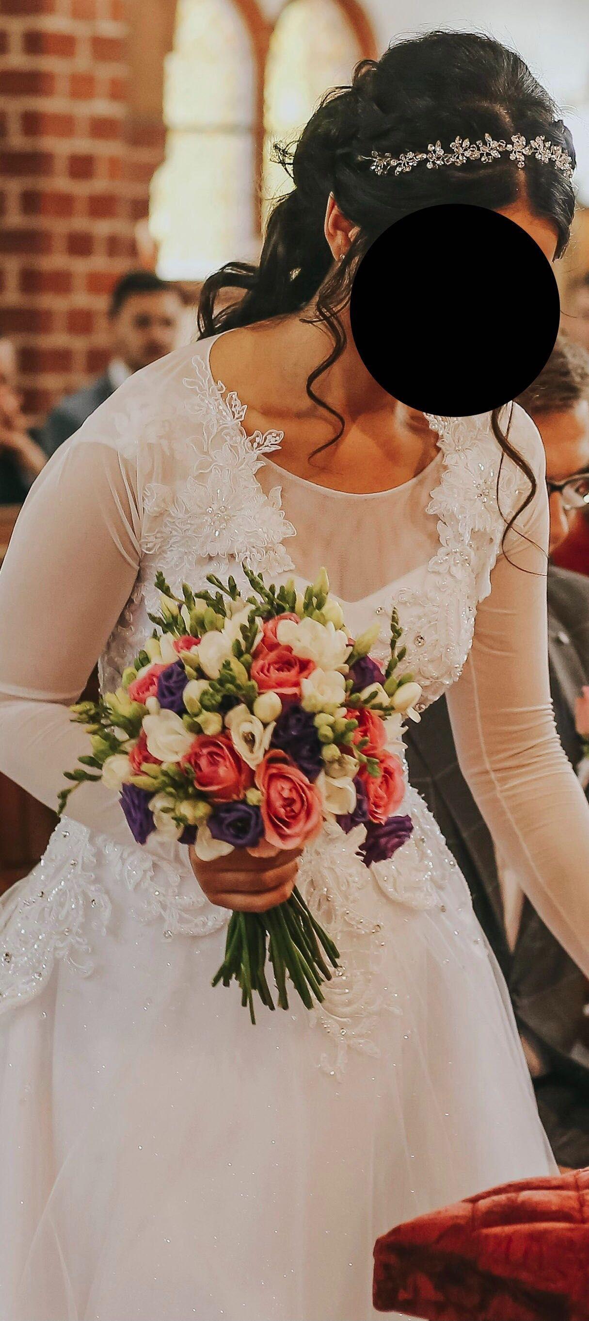 Bolero Ślubne zdobione