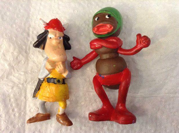 Guerreiro VICKIE e Formiga Abelha Maia figuras PVC - HEIMO - bonecos