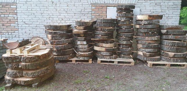 Plastry drewna drzewa na blat stolik kawowy stól LOFT RÓŻNE ŚREDNICE