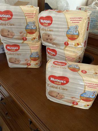 Памперсы Huggies extra care 5 пачек