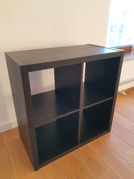 IKEA KALLAX regał, czarnobrąz 2x2, 77x77 cm