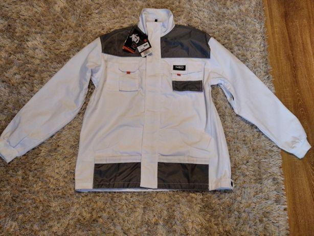 Bluza biała Neo Tools z kieszeniami Hard wzmacniana XL 56