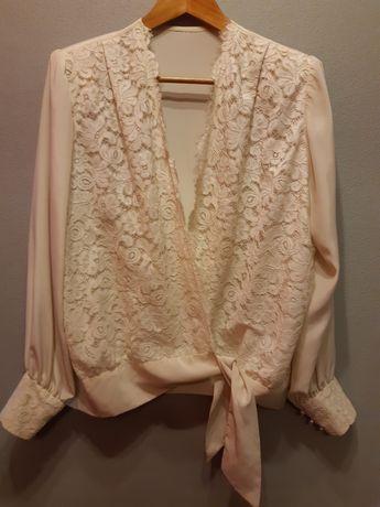 Camisa/blusa vintage anos 60 tafetá  tamanho  L