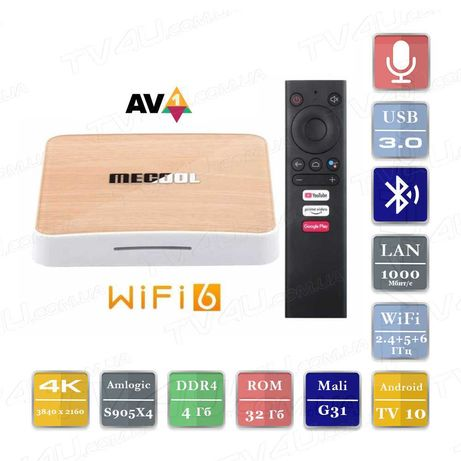 Mecool KM6 Smart TV Box 4/32 Андроид 10 ТВ Приставка