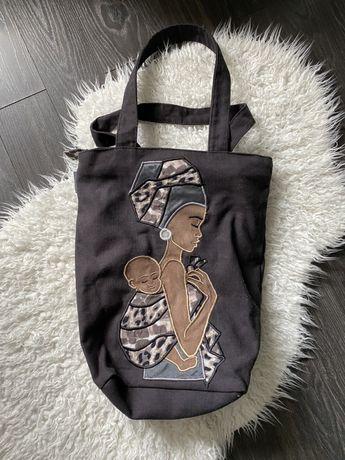 Torba bag torebka miejska afryka murzynka handmade recznie robiona PL