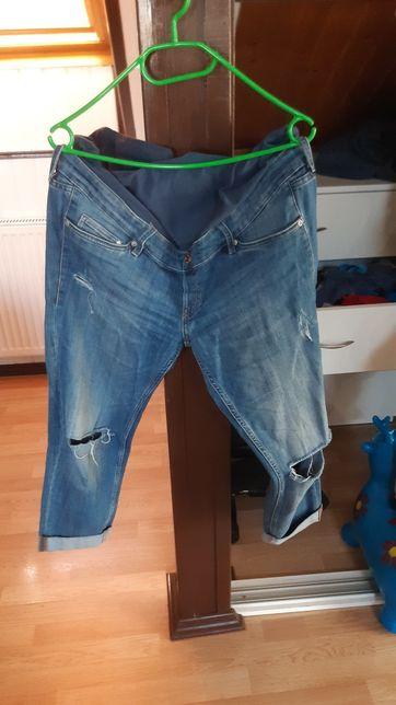 Spodnie ciążowe jeansy z dziurami hm mama 44