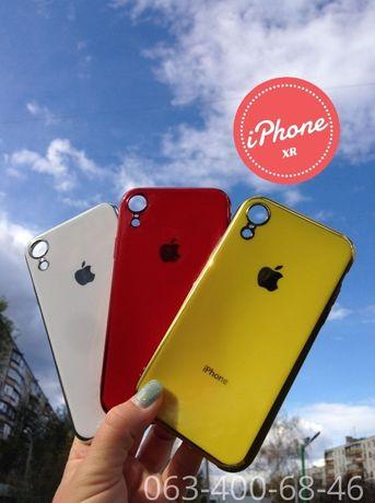 Силиконовый чехол(стеклянный) на Айфон/для iPhone 7/8+/X/Xs Max/11/pro